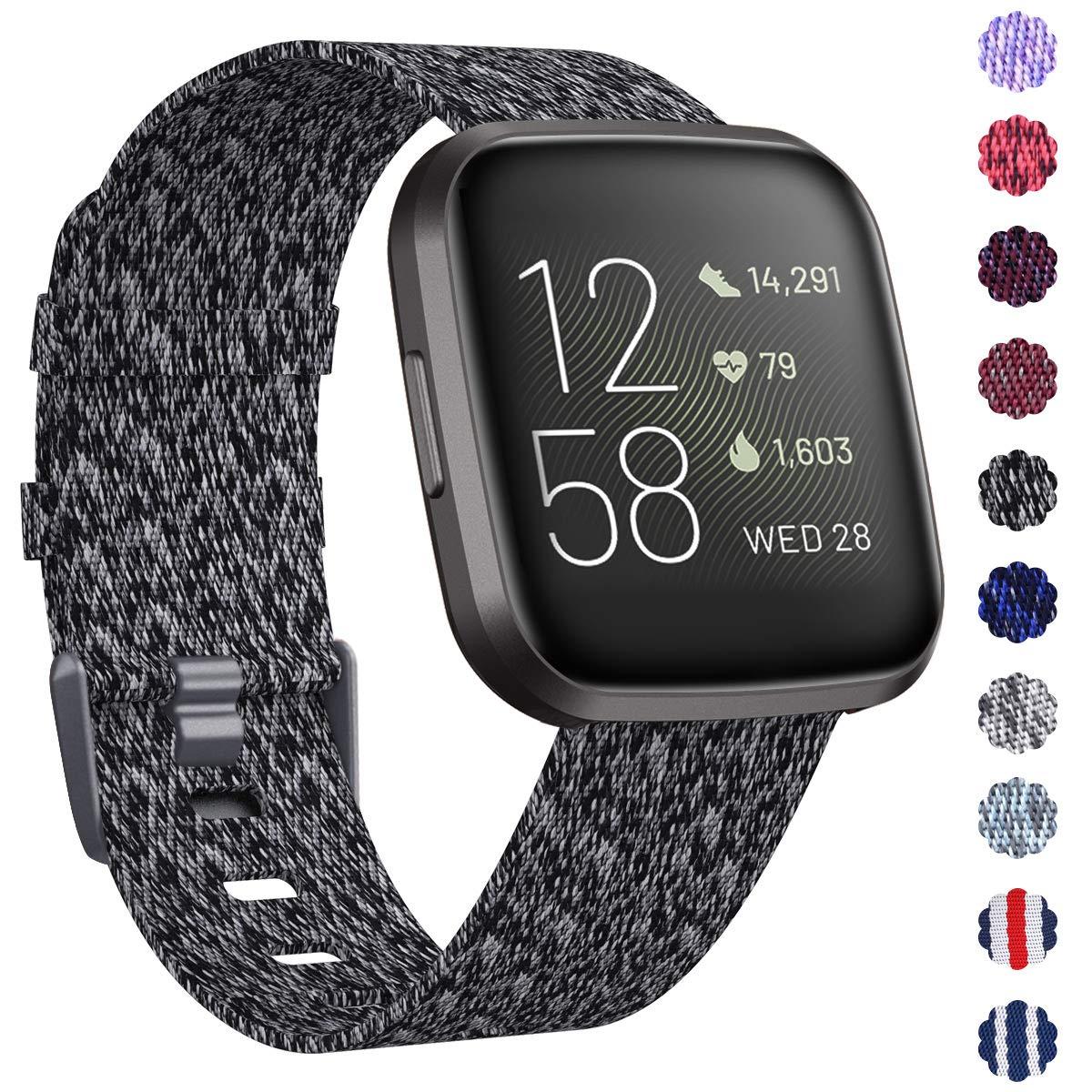 Malla Reloj Fitbit Versa/fitbit Versa 2 . Talle S Negro