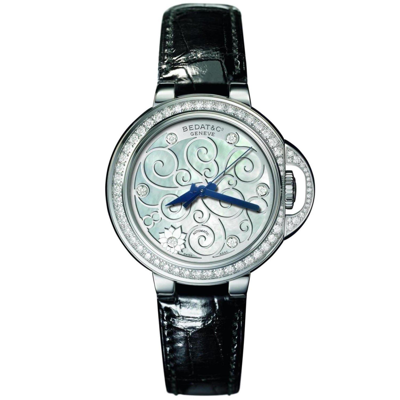 Bedat & Co de la mujer nº 8 diamond 36,5 mm negro correa de cuero caja de acero automático Mop Dial reloj 828.060.m01: Amazon.es: Relojes