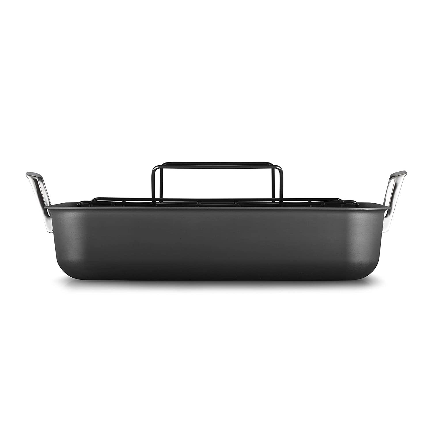 Calphalon 2029653 Premier Hard-Anodized Nonstick 16-Inch Roaster with Rack, Black