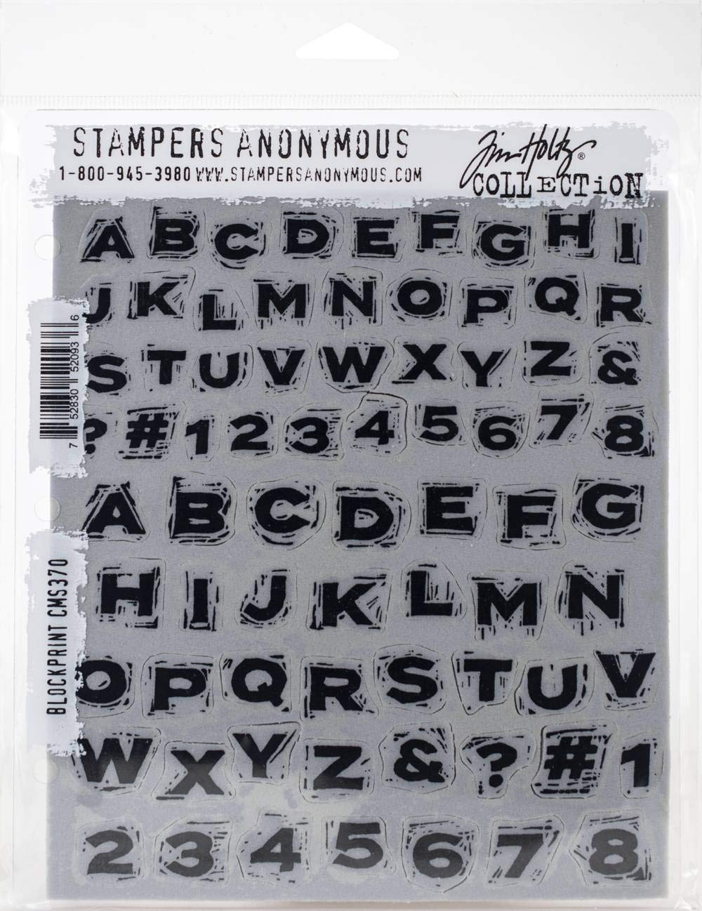 Stampers Anonymous CMS370 ClngStp THoltz Blockprint