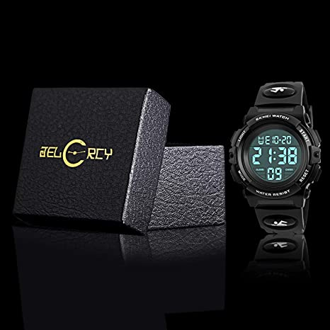 Amazon.com: Boys Digital Sport Watch, Kids Outdoor Waterproof Electronic Watches with LED Alarm Stopwatch: Watches