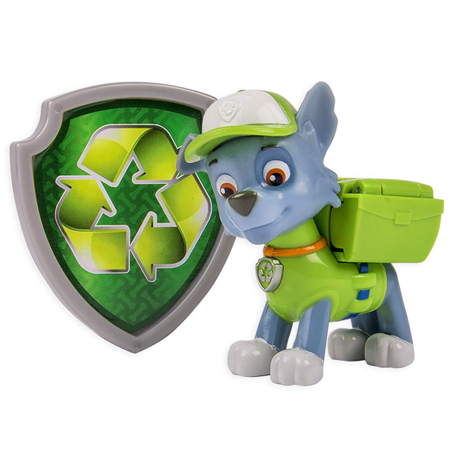 Paw Patrol Rocky Action Pack Pup /& Badge Nickelodeon
