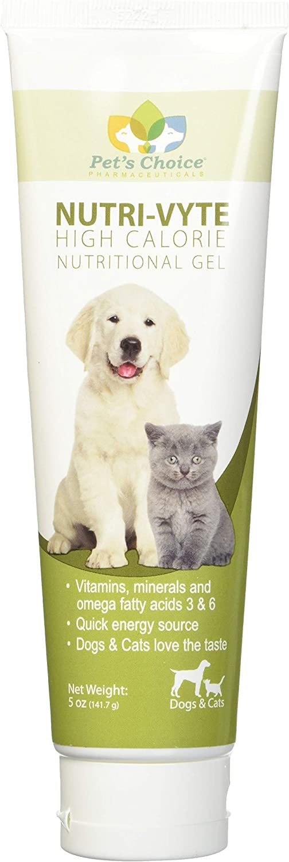 Nutri-Vyte High Calorie Nutrition Gel for Dogs Cats, 5 oz, 6 pk
