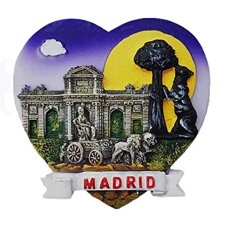 MUYU Magnet Imán para Nevera, diseño de símbolo de Madrid en ...