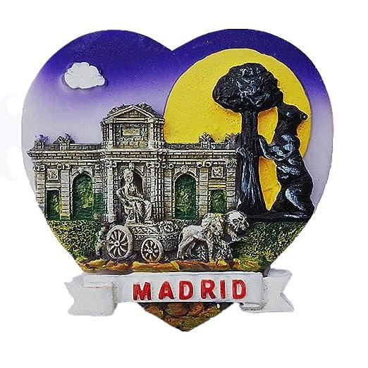 MUYU Magnet Imán para Nevera, diseño de símbolo de Madrid en 3D ...