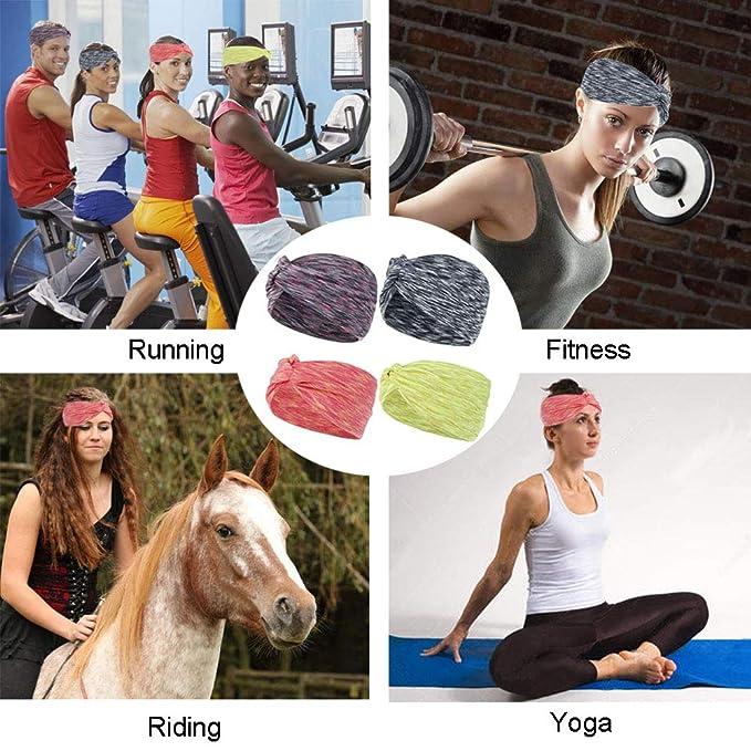 Fitness Diadema Deportiva para Mujer Deportes Viajes MAMUNU 4 Unidades para Correr