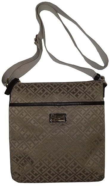 b595d46cfce Tommy Hilfiger Women's/Girl's Xbody/Crossbody Handbag, Beige Logo: Handbags:  Amazon.com