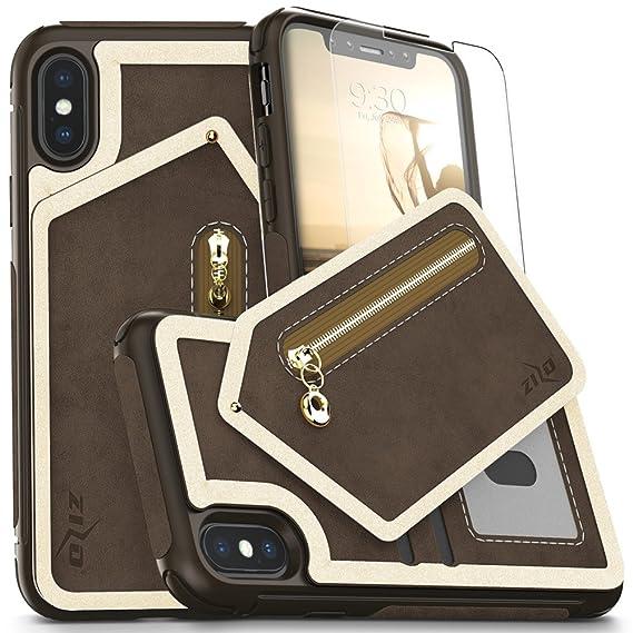 the latest 1daa3 b4491 Amazon.com: iPhone X Case - Zizo Nebula Wallet Case w/ [iPhone X ...