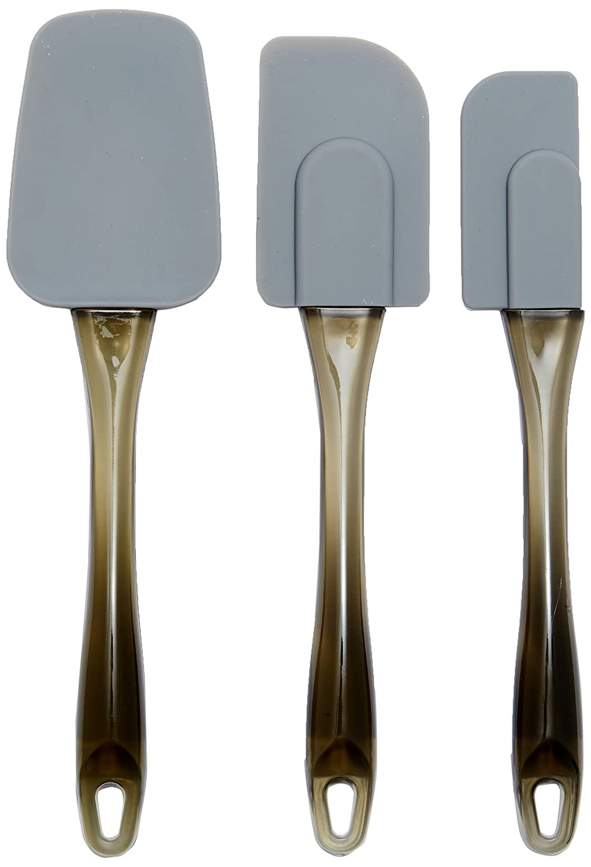 AmazonBasics - Spatole in silicone, set da 3 pezzi AOKE-0001