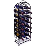 Sorbus® Wine Rack Stand Bordeaux Chateau Style - Holds 23 Bottles of Your Favorite Wine - Elegant Looking French Style Wine Rack to Compliment Any Space - No Assembly Required