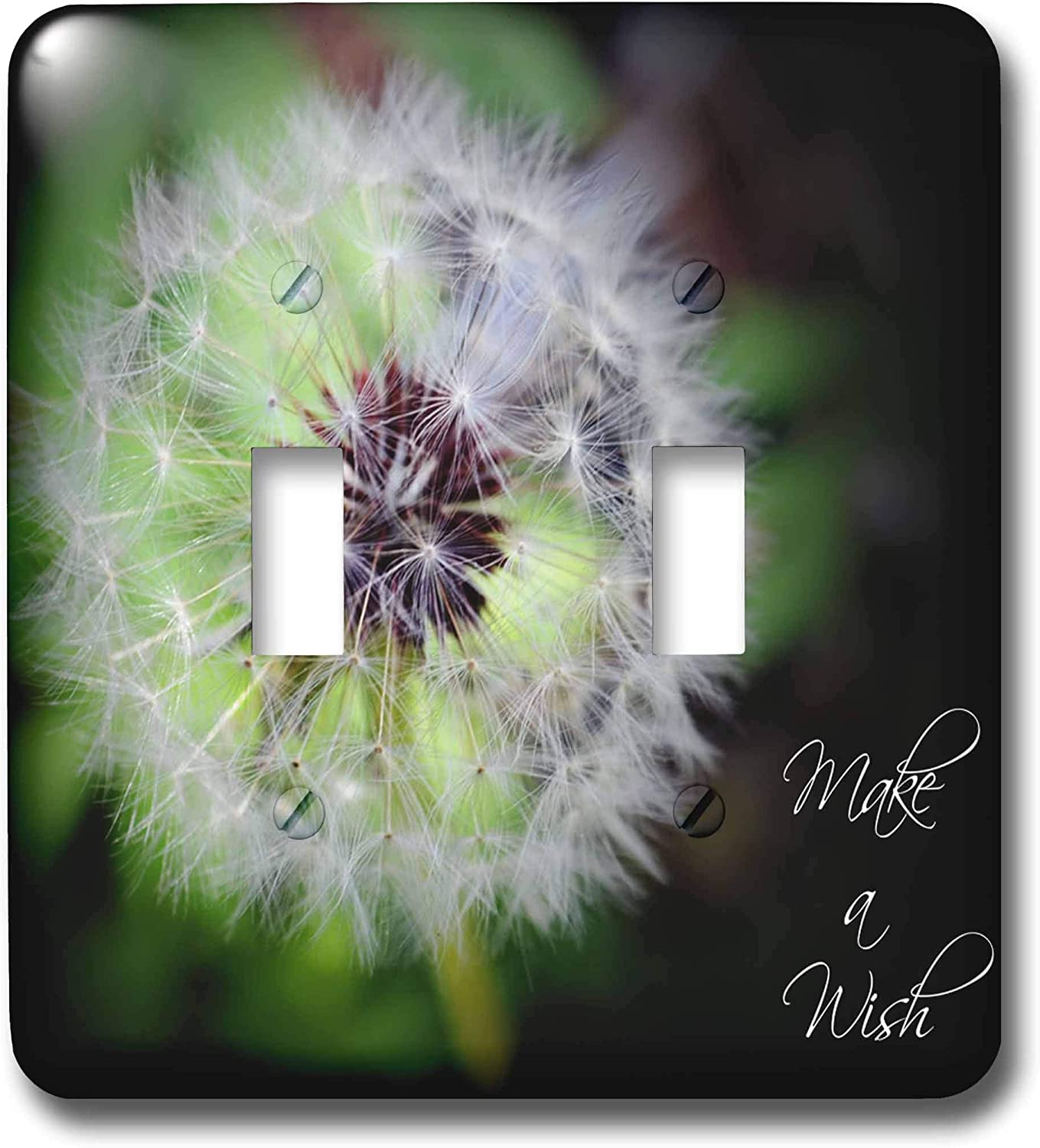 3drose Lsp 30607 2 Make A Wish Dandelion Puff Ball Double Toggle Switch Switch Plates
