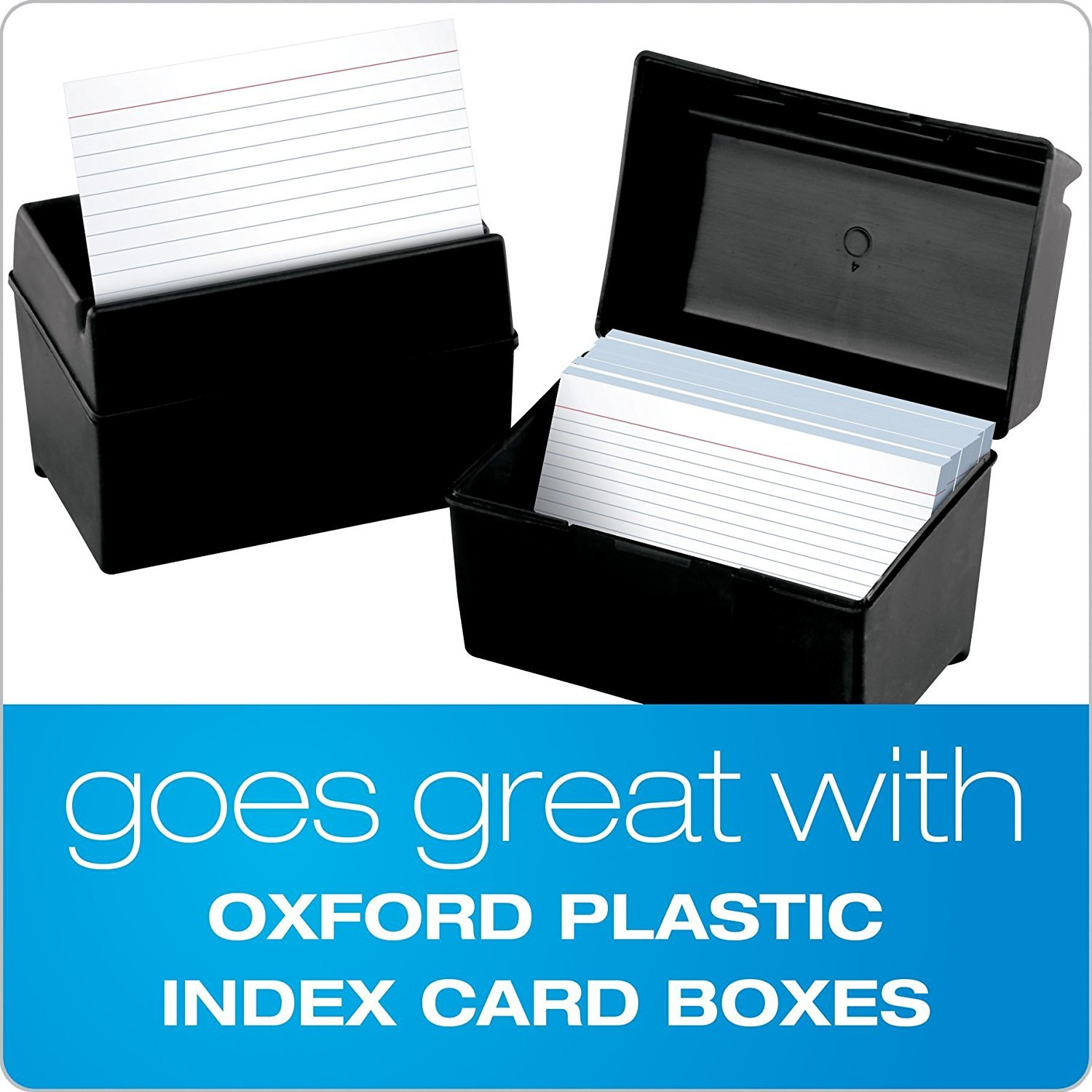 Oxford Ruled Index Cards, 5'' x 8'', White, 100/Pack (51) (2 Pack)