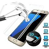 Premium Samsung Galaxy S7 Edge Screen Protector 5.5 inch S7 Plus Invisible Shield Guard , YaSaShe Anti-burst Tempered Glass Transparent Screen Protector 5.5'' (S7 Edge Clear)