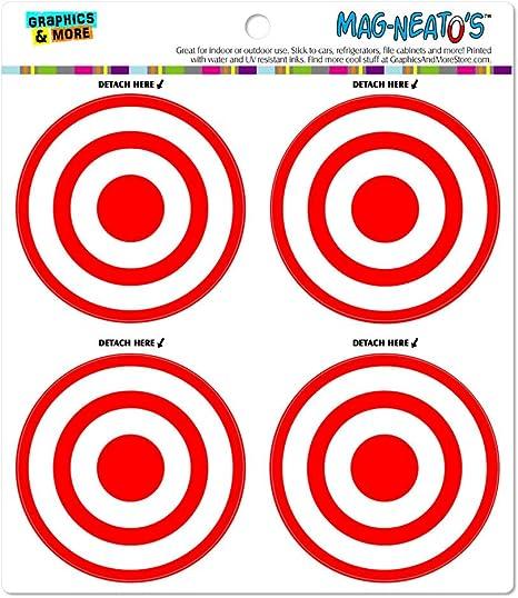 Amazon Com Target Sniper Scope Bullseye Automotive Car Refrigerator Locker Vinyl Magnet Set Kitchen Dining