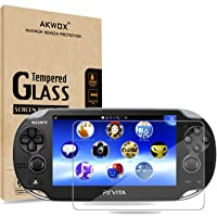 (Pack of 2) Screen Protector For PS Vita 1000, Akwox Premium HD Clear 9H Tempered Glass Screen Protective Film For Sony…