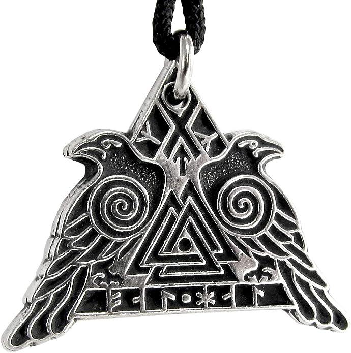Dawapara Valknut Raven Guerrier Pendentif Valkyrie Odin de Hugin et Munin Crow Bracelet Cadeaux Bijoux