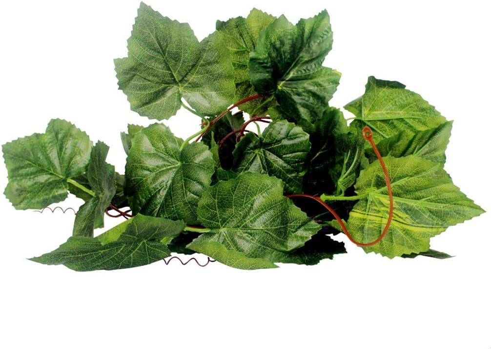 Generic Reptil Terrarium Vivarium / Uvas Vides de Hiedra de Ornamento Planta Hiedra Vides Artificial Verde - 1