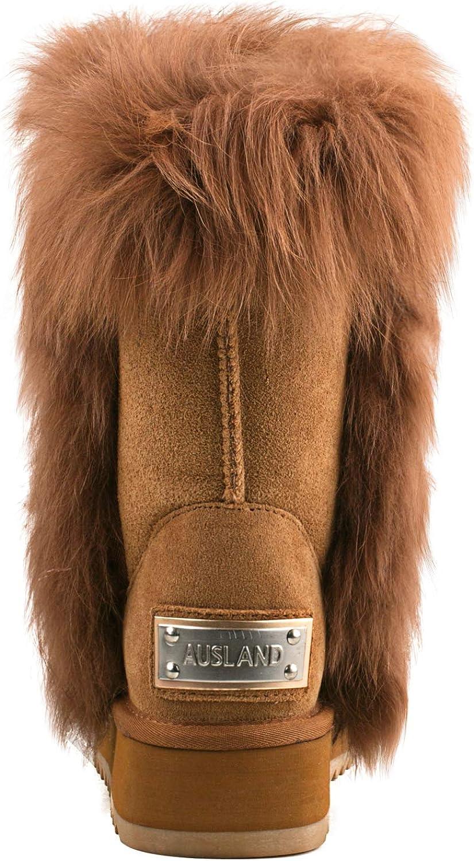 Amazon.com: AUSLAND - Zapatillas de piel de ante con forro ...