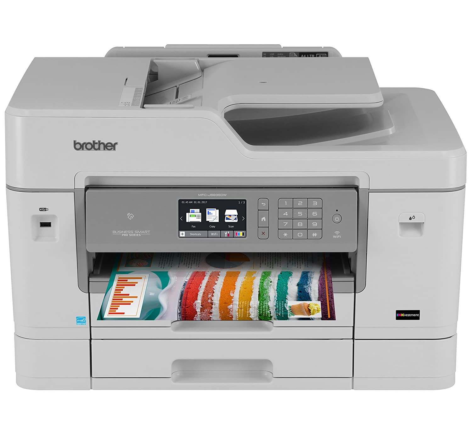 Brother MFC-J6935DW Inkjet All-in-One Color Printer, Wireless Connectivity, Automatic Duplex Printing,  Dash Replenishment Enabled