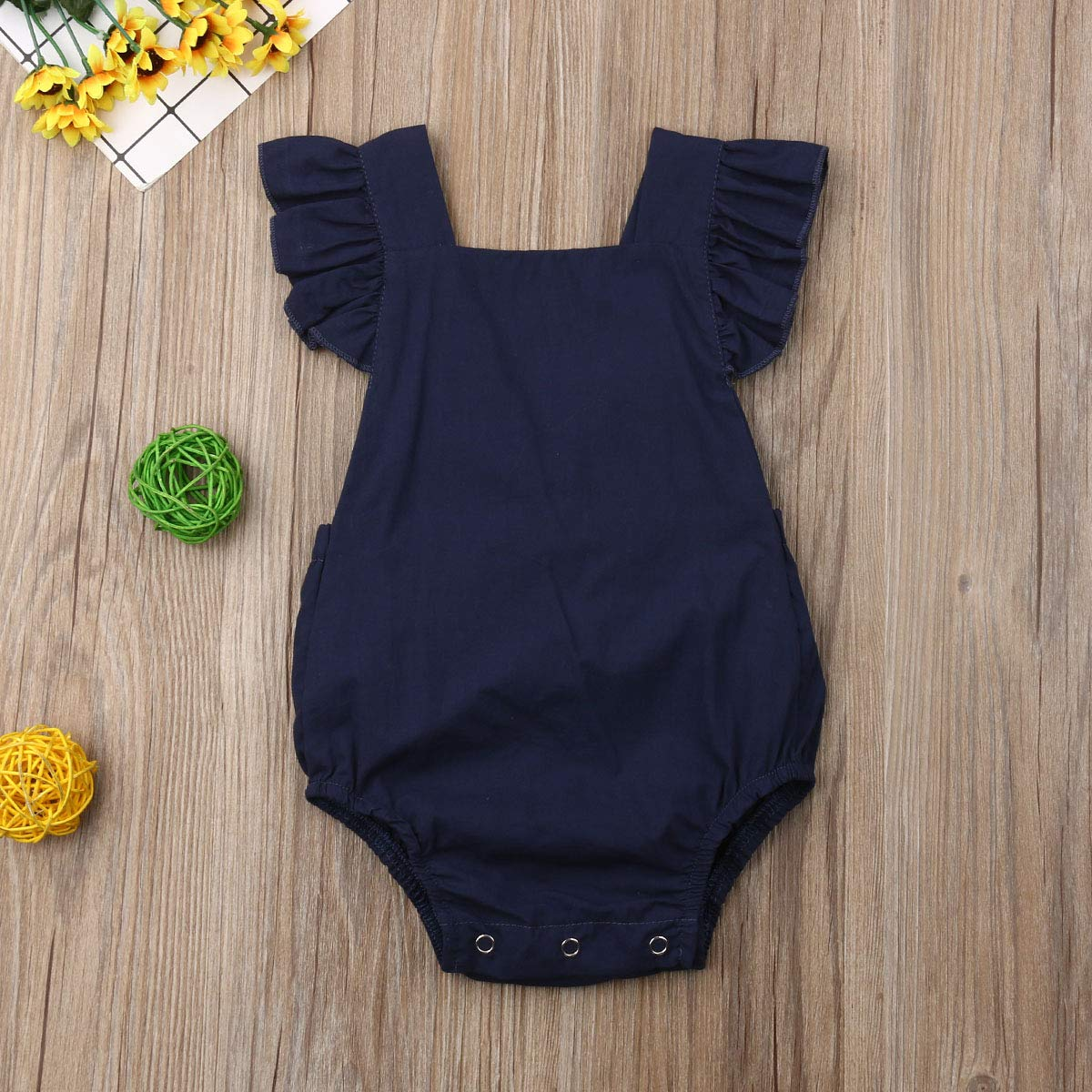 Infant Girl Clothes One Piece Sleeveless Romper Jumpsuit Baby Bodysuit Summer Clothes