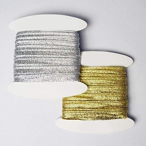 Um 5 Meter Paspelband zum N/ähen golden paspelband aus Gold Lurex designers-factory Lurex paspelband