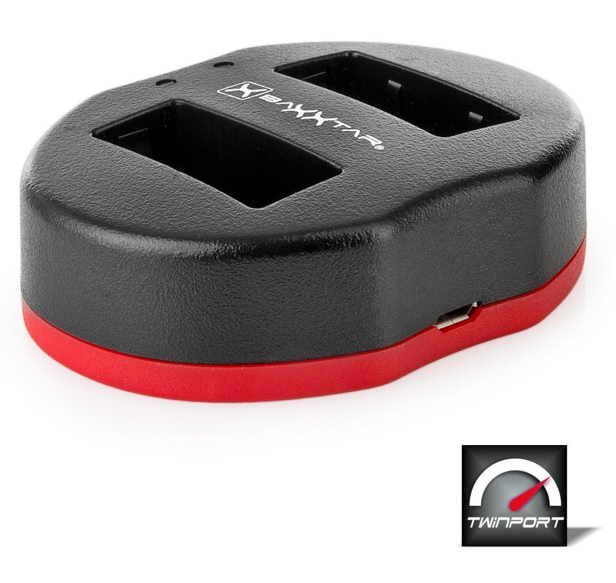 Baxxtar USB Dual Cargador Twin Port 1817 para la bater/ía Canon LP-E17 a Canon EOS 77D 200D 750D 760D 800D M3 M5 M6 I II etc.