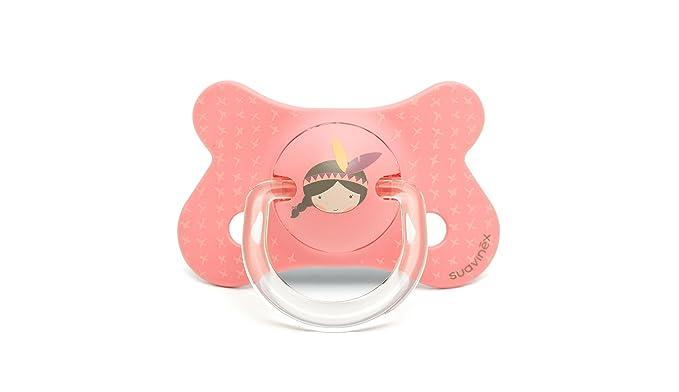 Suavinex 303082 - Chupete anatómico látex, +18 meses, indio, color rosa - 2 unidades: Amazon.es: Bebé