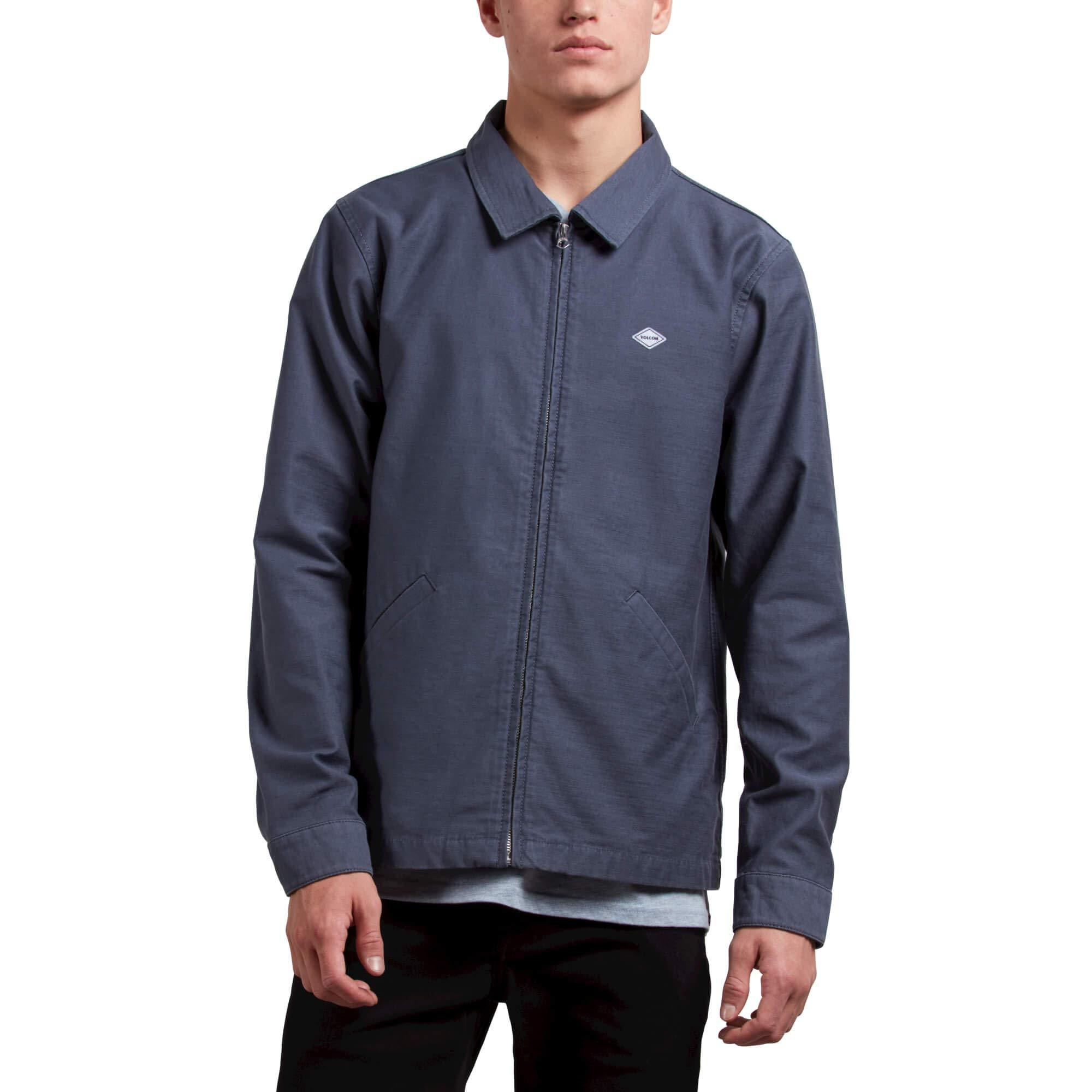 Volcom Men's Burkey Lightweight Garage Workwear Jacket, Midnight Blue, Large