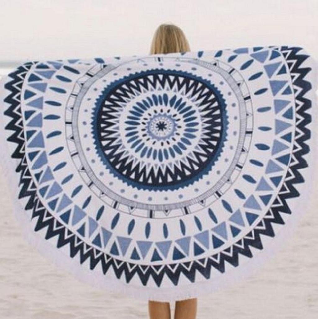150cm x150cm A Sannysis Toallas de Playa Indian Mandala Roundie Beach Throw Tapestry Hippy Boho Gypsy Cotton