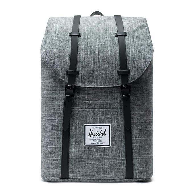 Herschel Retreat Backpack-Raven Crosshatch/Black Rubber