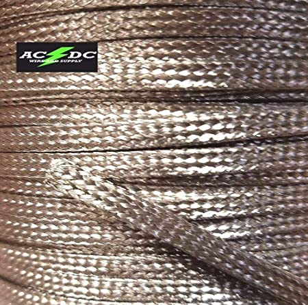 20 FEET 1//2 BRAIDED BRAID STAINLESS  EXPANDABLE SLEEVE WIRE HARNESS LOOM