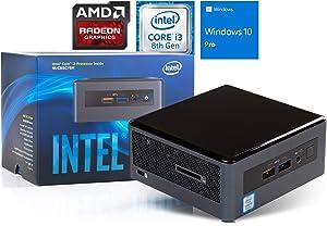 Intel NUC8I3CYSM Mini PC, Intel Core i3-8121U Upto 3.2GHz, 8GB RAM, 256GB SSD, AMD Radeon 540, HDMI, Card Reader, Wi-Fi, Bluetooth, Windows 10 Pro