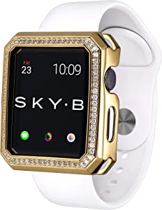 SKYB Deco Halo Yellow Gold Protective Jewelry Case for Apple Watch Series 1, 2, 3, 4, 5 Devices - 42mm