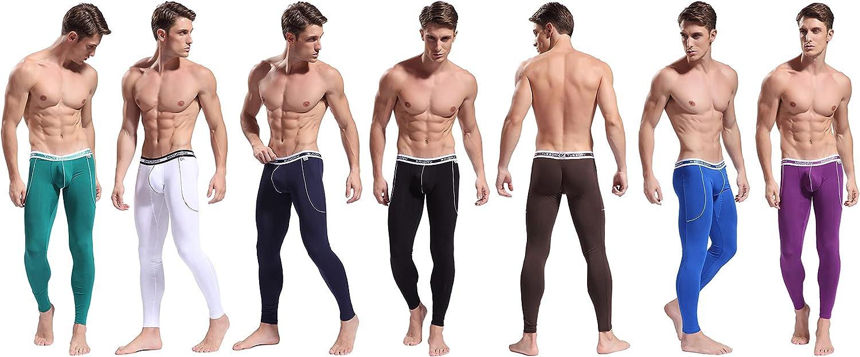 ARCITON Mens Low Rise Leggings Long Johns Thermal Pant