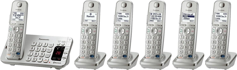 Panasonic kx-tge275s + 1 kx-tgea20s Terminal (6 Terminales total) sistema de teléfono inalámbrico Bluetooth con Teclado doble (kx-tge270s + 5, kx-tge272s + 4, kx-tge273s + 3, kx-tge274s + 2) (Certificado Reformado): Amazon.es: Electrónica