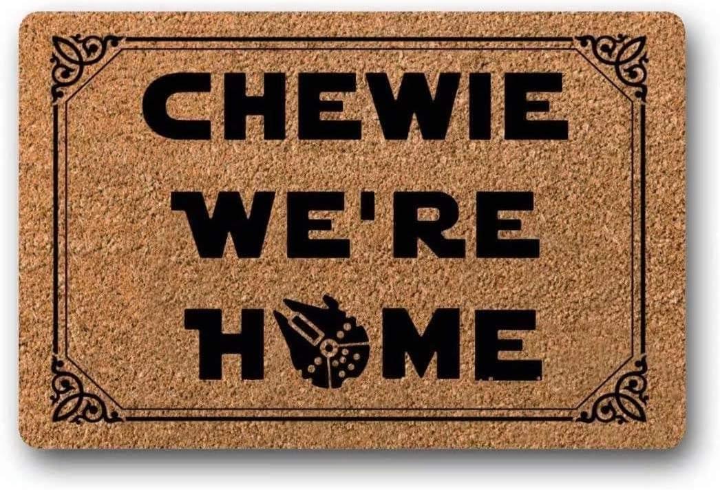 lolp We're Home Doormat - Star Wars Welcome Mat 23.6