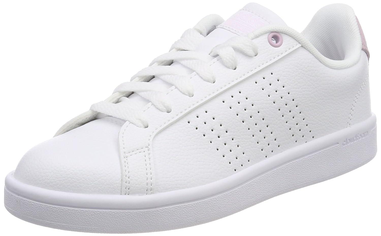 Adidas Cloudfoam Advantage Clean, Zapatillas para Mujer 36 EU Blanco (Blanco 000)