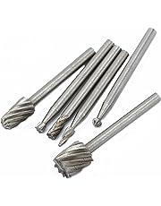 Dophee 6Pcs Routing Router Grinding Bit Burr Set for Dremel Milling Cutter Shaft Tool