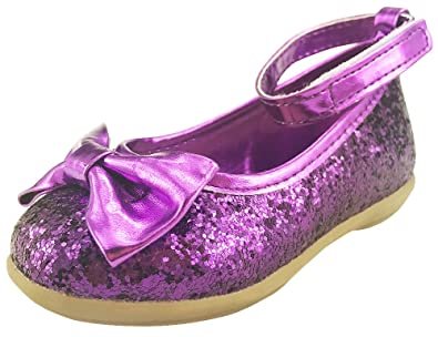 The Doll Maker Metallic Glitter Strap Flat Shoes-FBA173046-1