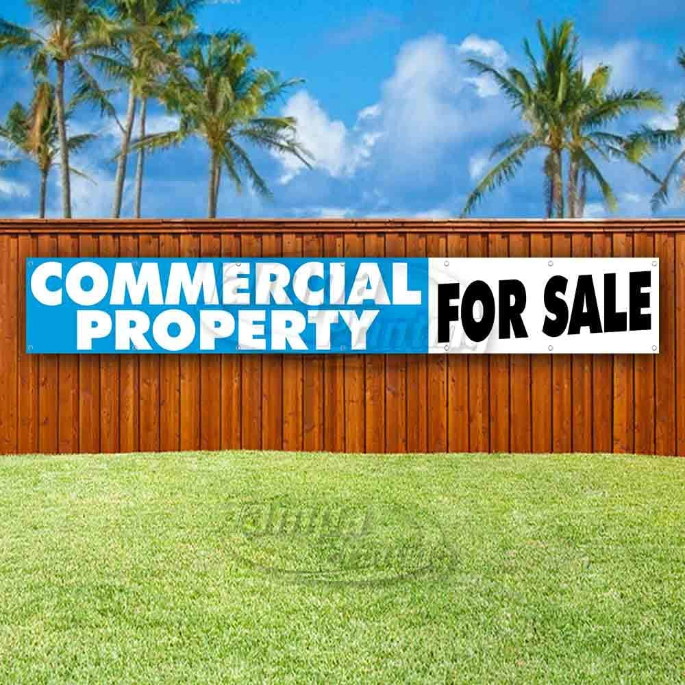 Flag, Store Many Sizes Available New Advertising Commercial Property for Sale Extra Large 13 oz Heavy Duty Vinyl Banner Sign with Metal Grommets