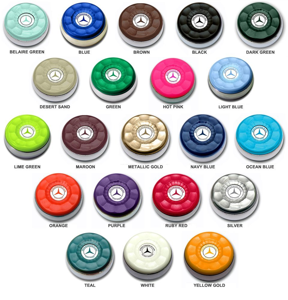 Zieglerworld Table Large Shuffleboard Puck Weights - 4 Pucks - White Colors + Booklet