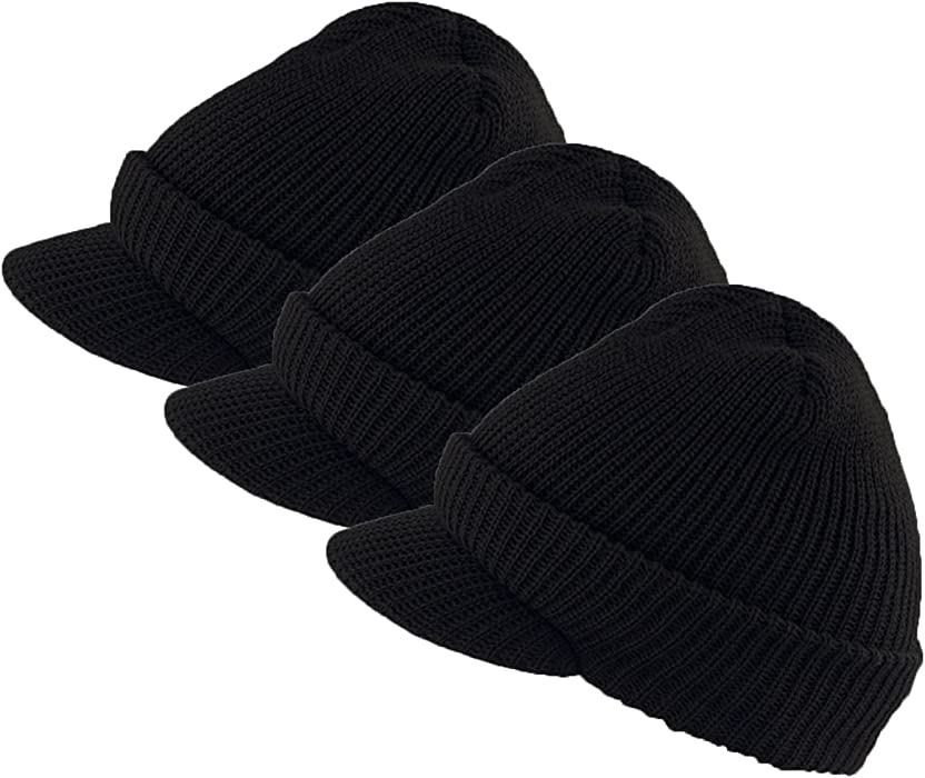Genuine Military Wool Jeep Cap with Lid - 3 Pack ff4d6fafff45