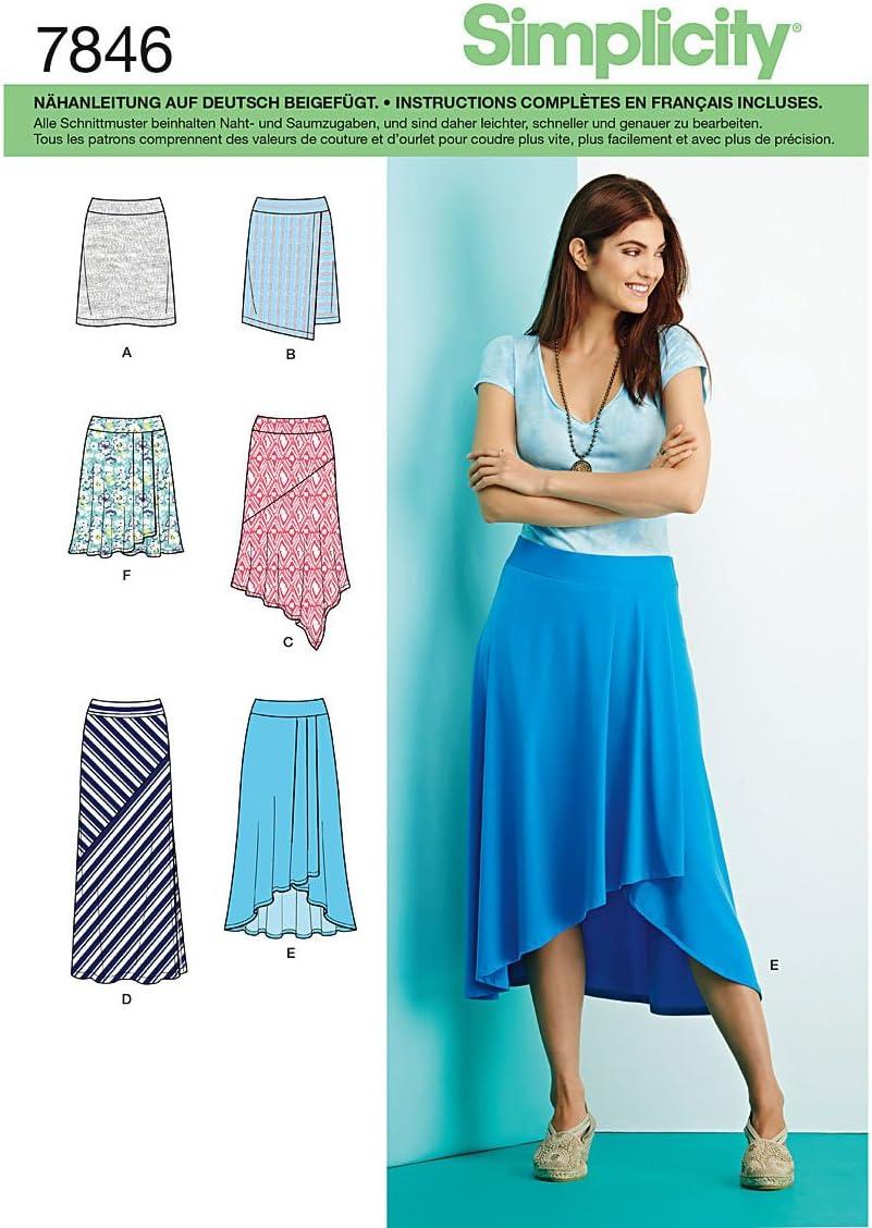 Burda Simplicity s7846.r5 patrón de Costura para Falda (Papel ...