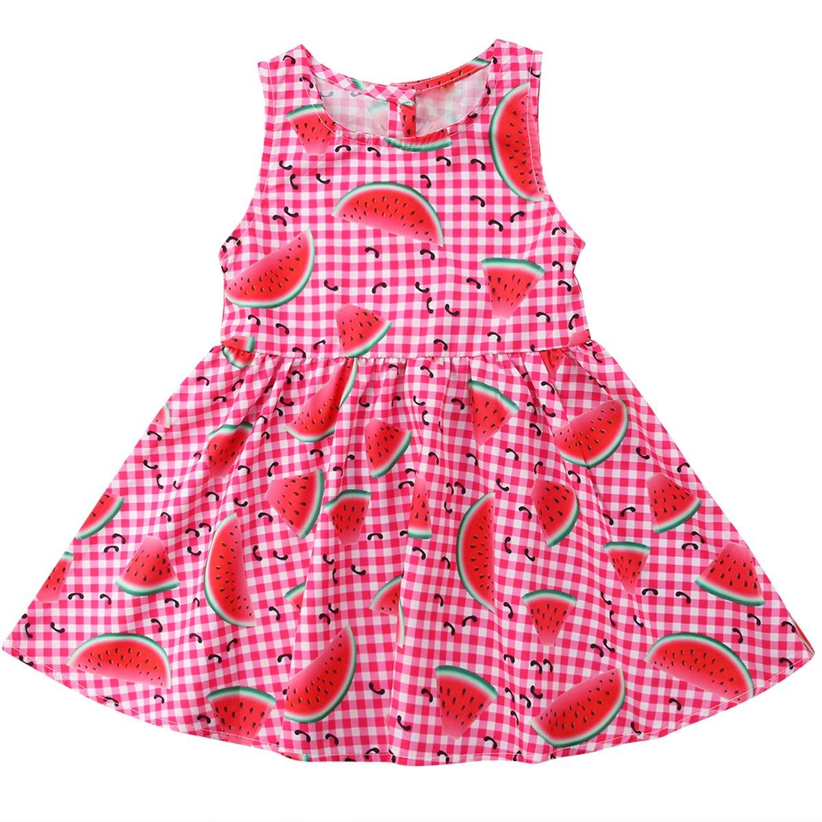Baby Girls Dress Watermelon Sleeveless Sundress Infant Princess Summer Dress