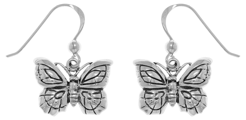 Butterfly .925 Sterling Silver Earrings by Peter Stone Jewelry