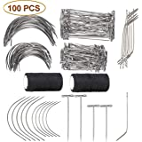 Y-Axis 100 Pieces Wig Making Pins Needles Set, Wig T Pins + C