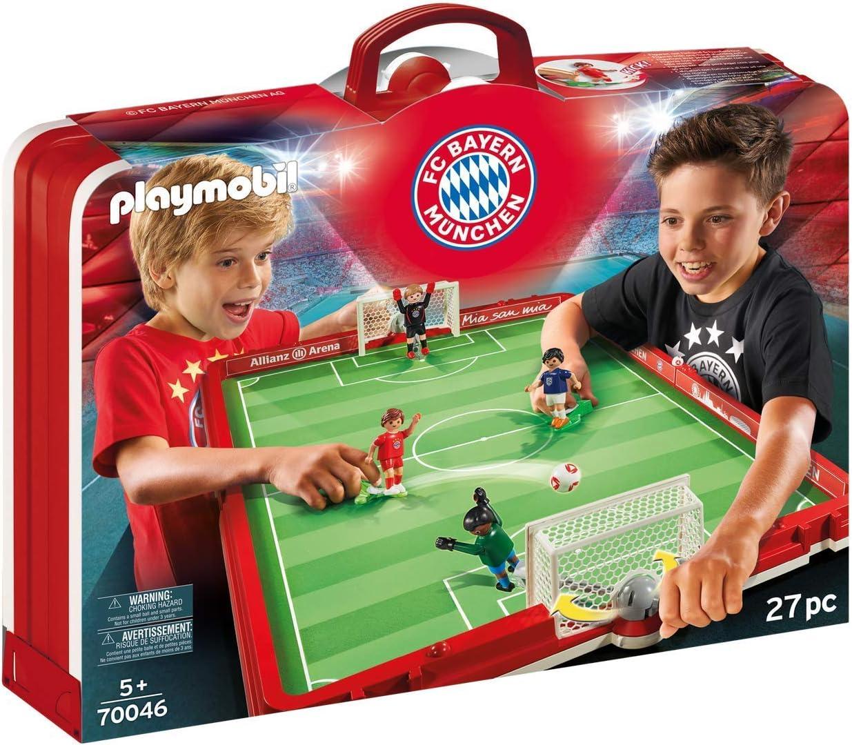 PLAYMOBIL 70046 Set de Fútbol Maletín FC Bayern Múnich: Amazon.es ...
