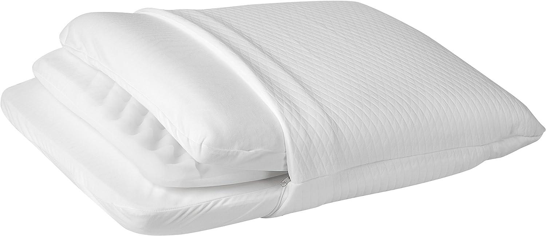Travesseiro Regulável Visco NASA, Espuma Massageadora e Látex, Personal Sleep, 50x70 cm, Fibrasca por Fibrasca