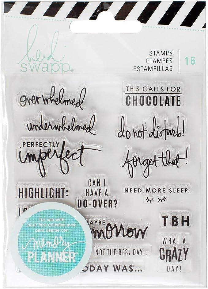 Multi Heidi Swapp 314556 Color Fresh-Acrylic Stamp Set 23 Piece