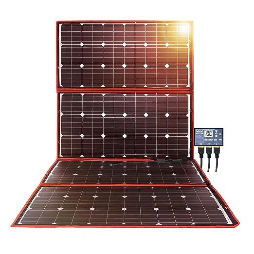 2 opinioni per Dokio 300W Pannello Solare Portatile,Mobile e Pieghevole+1 Regolatore 20A Serie
